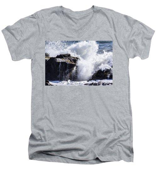 California Coast Wave Crash 6 Men's V-Neck T-Shirt