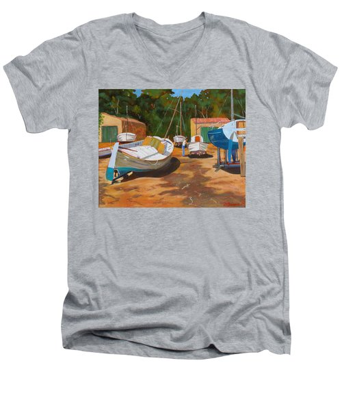 Cala Figuera Boatyard - I Men's V-Neck T-Shirt