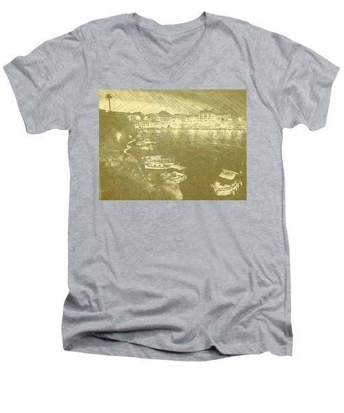 Cala Fonts At Night Men's V-Neck T-Shirt