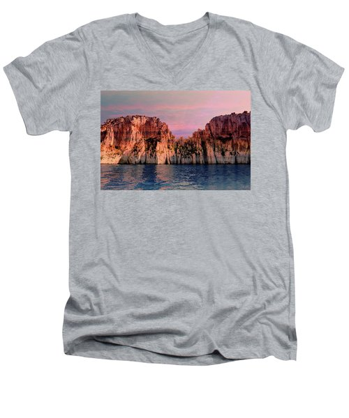 Calanques De Marseille .  Men's V-Neck T-Shirt