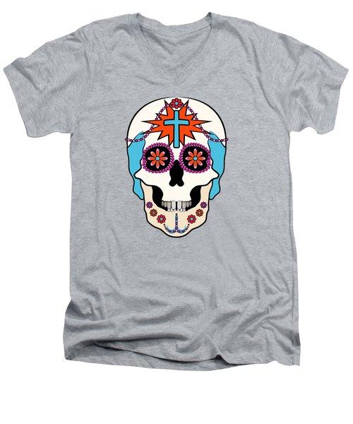 Calavera Graphic Men's V-Neck T-Shirt