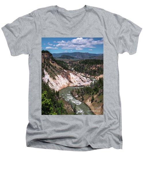 Calcite Springs Overlook  Men's V-Neck T-Shirt