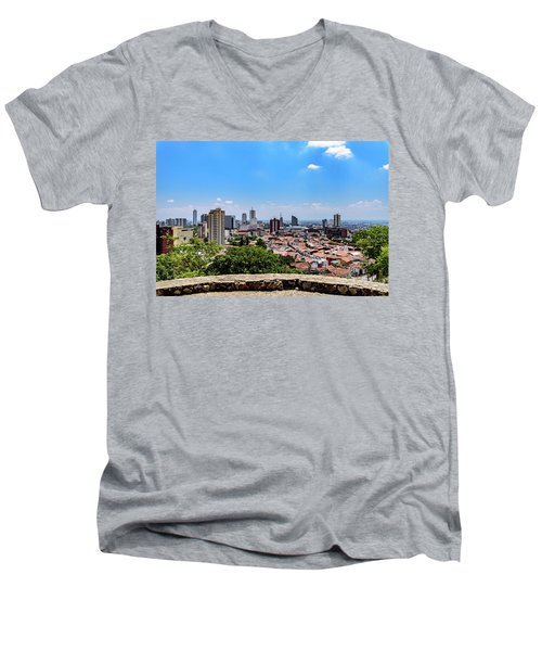 Cali Skyline Men's V-Neck T-Shirt