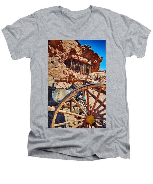 Calico Ghost Town Mine Men's V-Neck T-Shirt