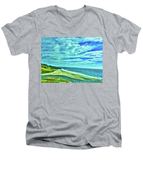 California Coast Men's V-Neck T-Shirt by Joan Reese