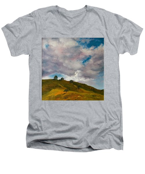 California Hills Men's V-Neck T-Shirt by Rick Nederlof