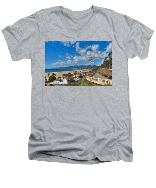 California Incline Palisades Park Ca Men's V-Neck T-Shirt