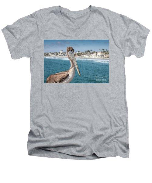 California Pelican Men's V-Neck T-Shirt
