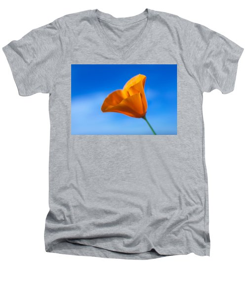 California Poppy Men's V-Neck T-Shirt