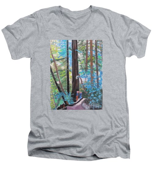 California Redwoods Near San Jose Men's V-Neck T-Shirt