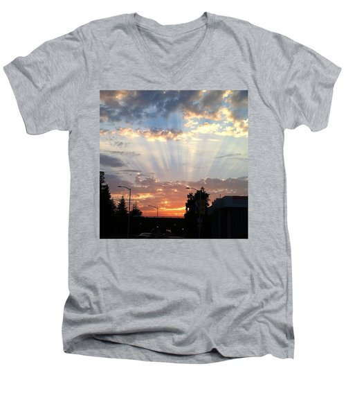 #california #sunset #nature Men's V-Neck T-Shirt
