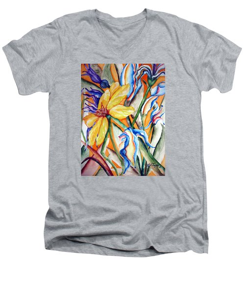 California Wildflowers Series I Men's V-Neck T-Shirt by Lil Taylor