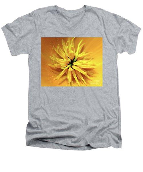 Californian Poppy Macro Men's V-Neck T-Shirt