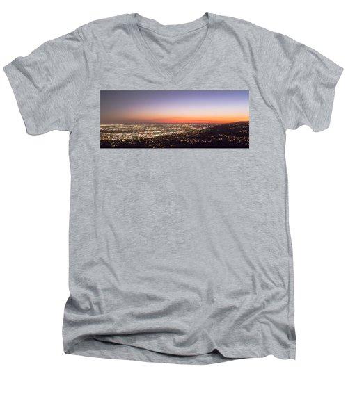 Californian Sunset Men's V-Neck T-Shirt