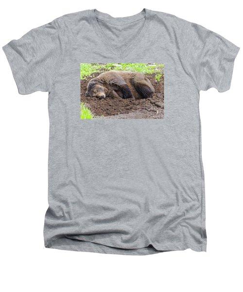 Call Later Men's V-Neck T-Shirt by Harold Piskiel