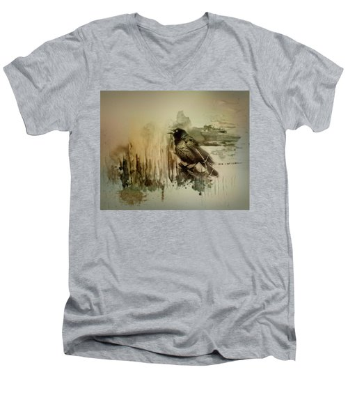Call Of The Grackle Men's V-Neck T-Shirt
