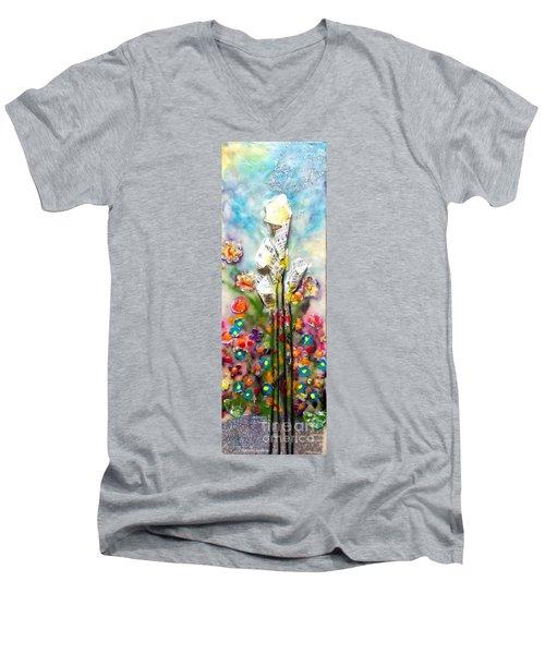 Calla Lily Dance Men's V-Neck T-Shirt