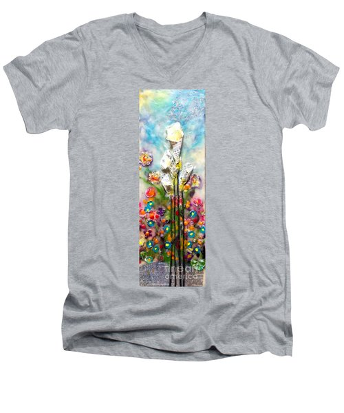 Calla Lily Dance Men's V-Neck T-Shirt