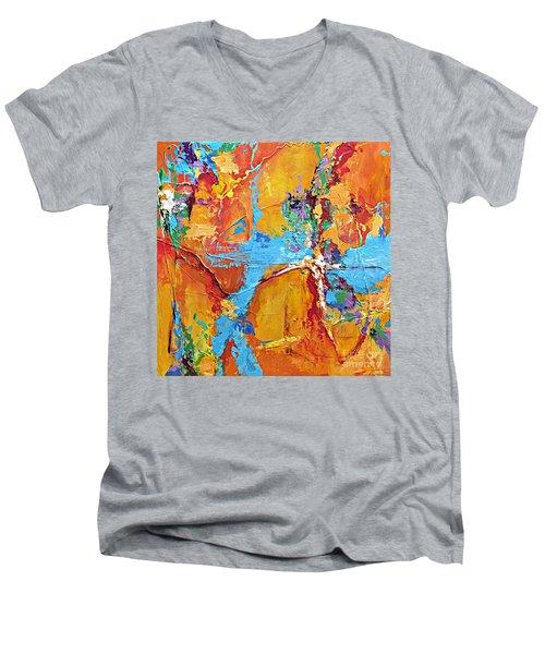 Calling All Angels Men's V-Neck T-Shirt