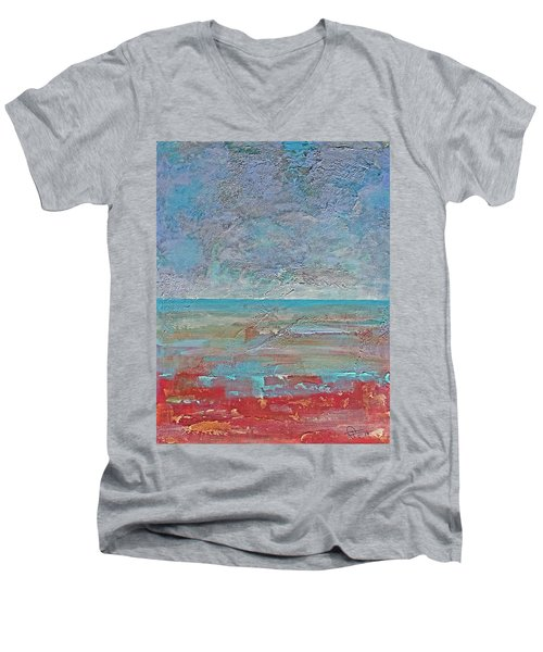 Calm Before The Storm Men's V-Neck T-Shirt by Walter Fahmy