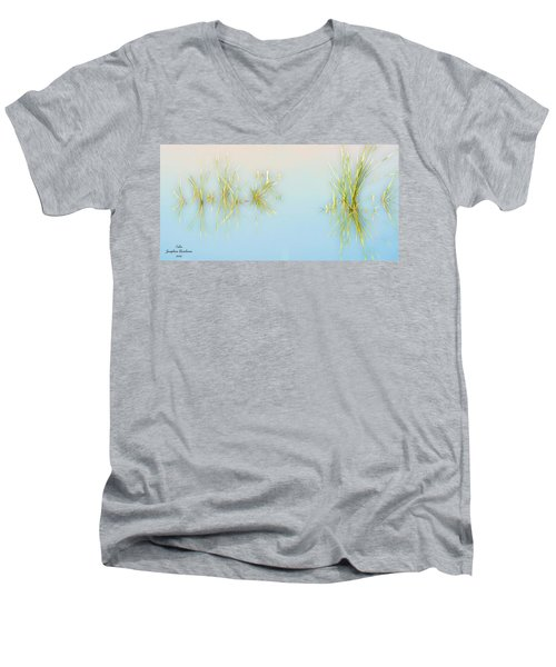 Calm Men's V-Neck T-Shirt by Josephine Buschman