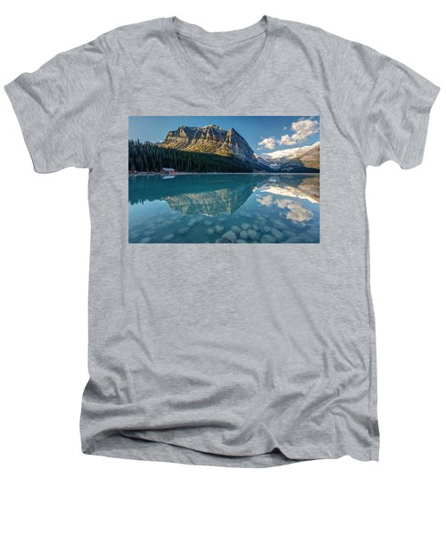 Calm Lake Louise Reflection Men's V-Neck T-Shirt