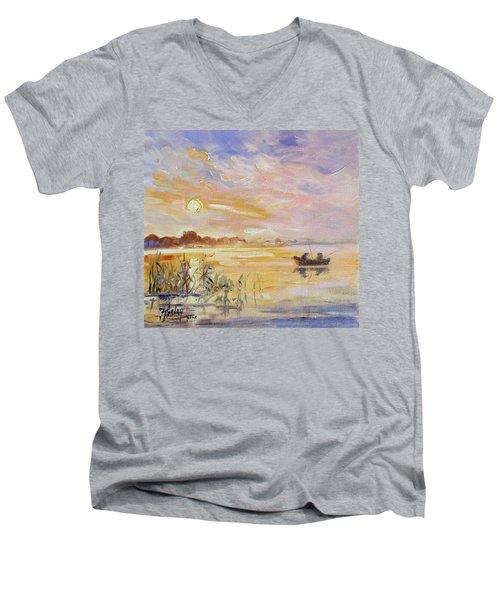 Calm Morning Men's V-Neck T-Shirt by Irek Szelag