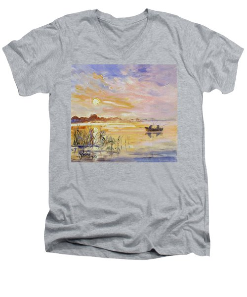 Calm Morning Men's V-Neck T-Shirt