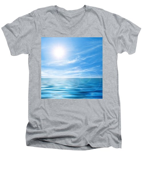 Calm Seascape Men's V-Neck T-Shirt