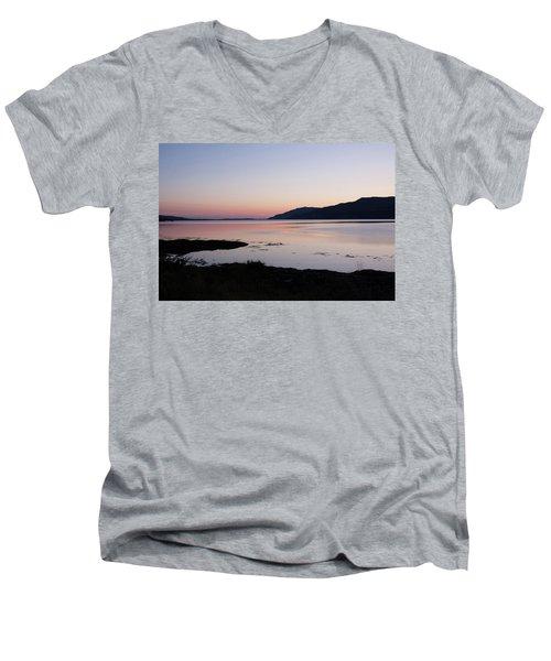 Calm Sunset Loch Scridain Men's V-Neck T-Shirt