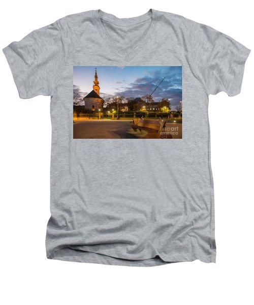 Calm Twilight In Novi Sad Vojvodina Men's V-Neck T-Shirt