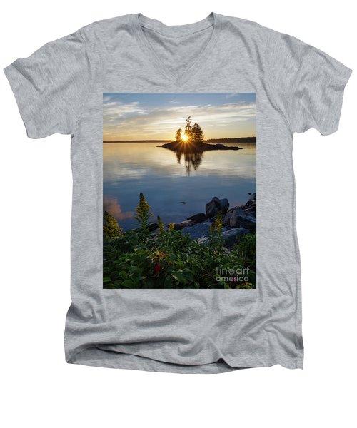 Calm Water At Sunset, Harpswell, Maine -99056-99058 Men's V-Neck T-Shirt