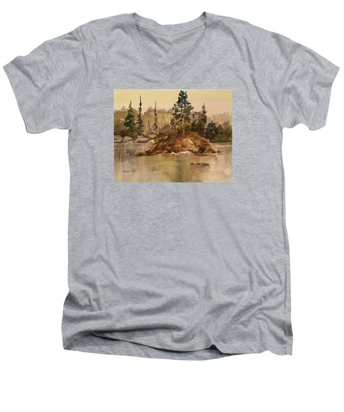 Calm Waters Men's V-Neck T-Shirt by Larry Hamilton