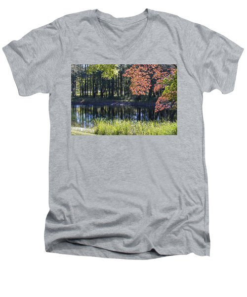Calm Waters Men's V-Neck T-Shirt by Ricky Dean