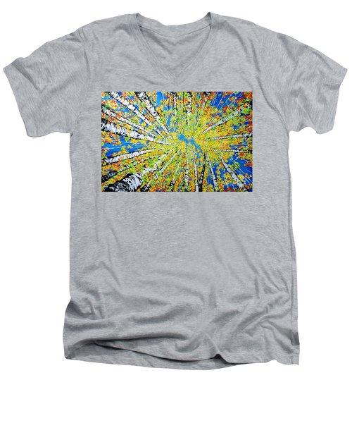 Calming Canopy Men's V-Neck T-Shirt