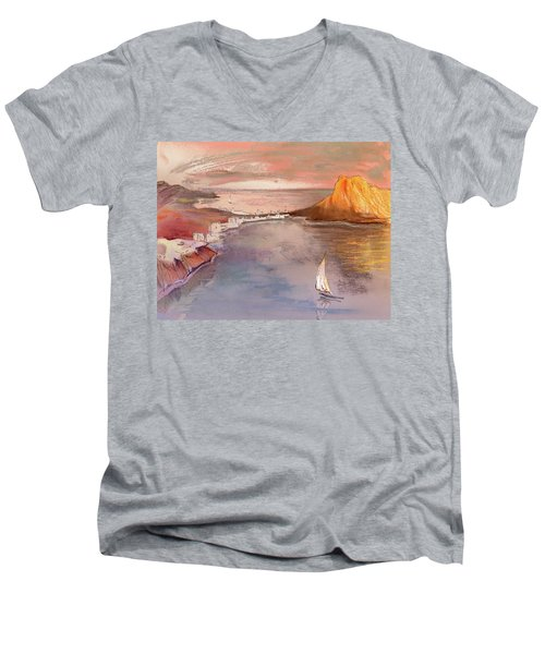 Calpe At Sunset Men's V-Neck T-Shirt