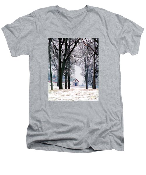 Calumet Winter Men's V-Neck T-Shirt