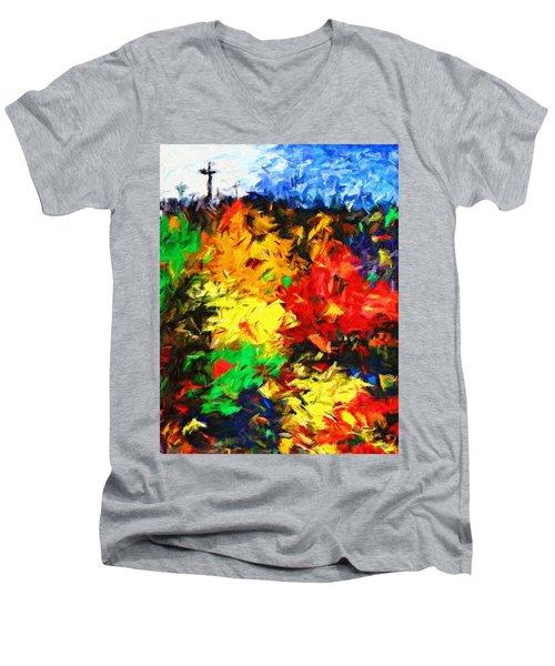 Calvary Hill Men's V-Neck T-Shirt