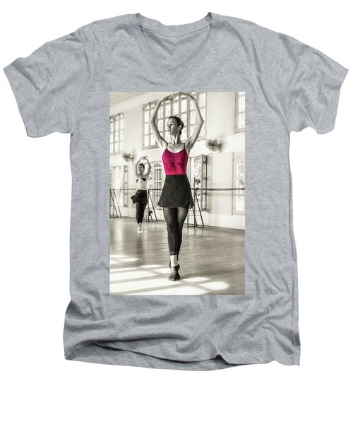 Camaguey Ballet 1 Men's V-Neck T-Shirt