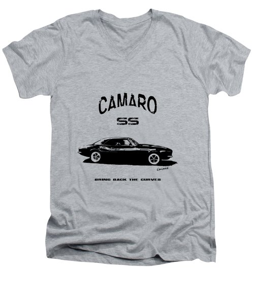 Men's V-Neck T-Shirt featuring the photograph Camaro Ss V.2 by Kim Gauge