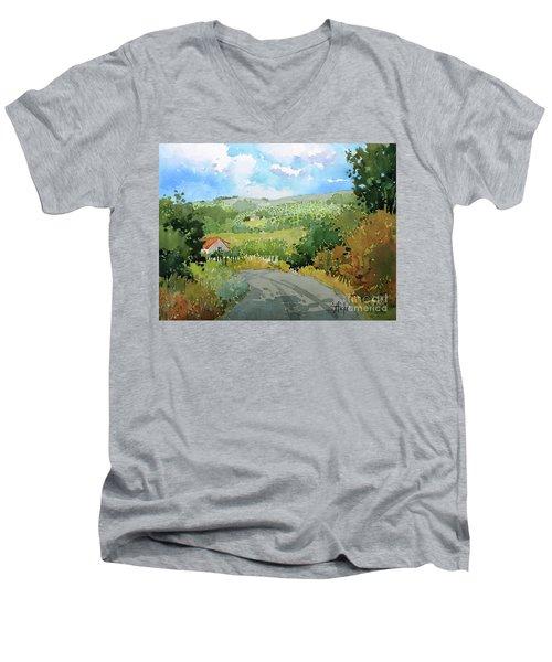 Cambria Countryside Men's V-Neck T-Shirt