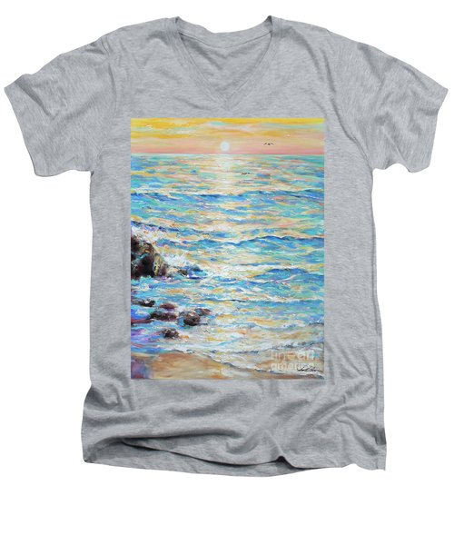 Cambria Rocks Men's V-Neck T-Shirt