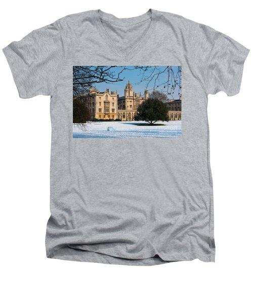 Cambridge Snowscape Men's V-Neck T-Shirt