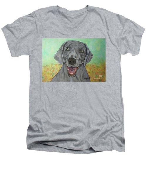 Camden The Weimaraner Men's V-Neck T-Shirt