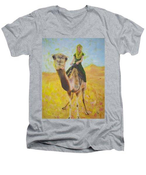 Camel At Work Men's V-Neck T-Shirt