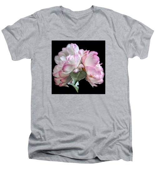 Men's V-Neck T-Shirt featuring the photograph Camelia by Susi Stroud
