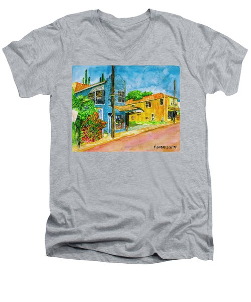 Camilles Place Men's V-Neck T-Shirt by Eric Samuelson