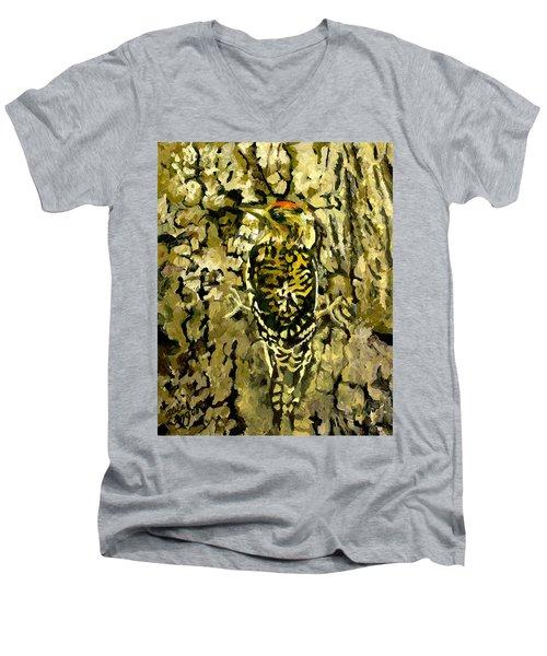 Camouflage Men's V-Neck T-Shirt by Alice Leggett