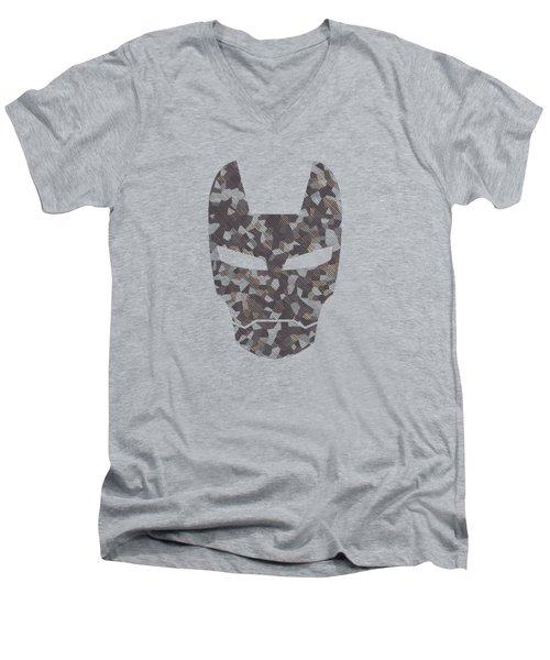 Camouflage Mask Men's V-Neck T-Shirt
