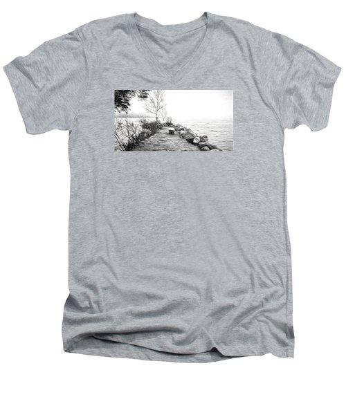 Camp Of The Woods, Ny Men's V-Neck T-Shirt by Rena Trepanier